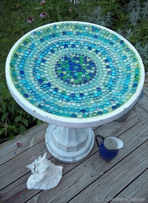 beautiful mosaic bird bath gardening pinterest