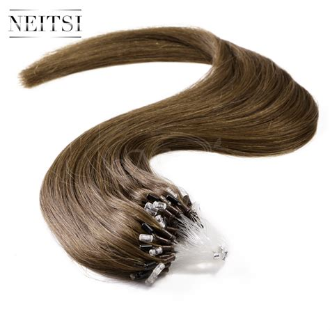 micro ring hair extensions aol neitsi micro beads loop ring human hair weave extensions
