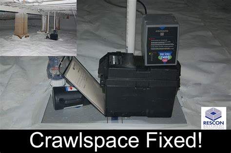 rescon basement solutions londonderry nh us 03053 dirty d crawlspace repair rescon basement solutions