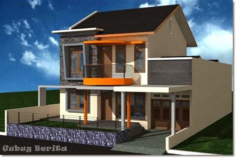 gambar desain rumah minimalis tingkat dua gubug berita