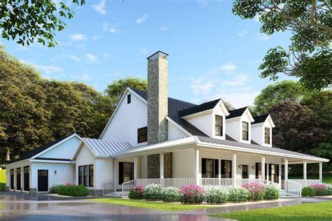 farmhouse home plan 4 bedrms 2 baths 2173 sq ft