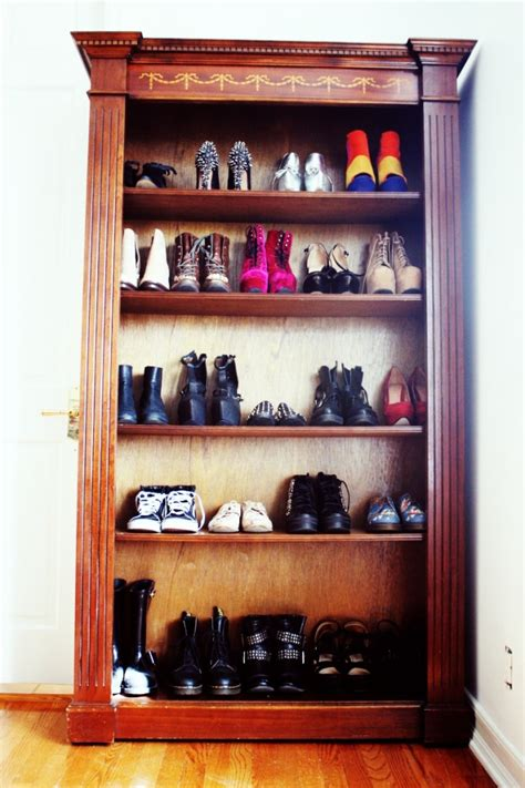 mr kate design inspo bookshelf as shoe storage