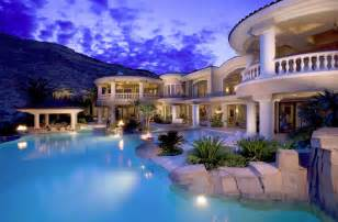 Luxury House Blueprints Amazing Mansion With Pool And View Dream Homes