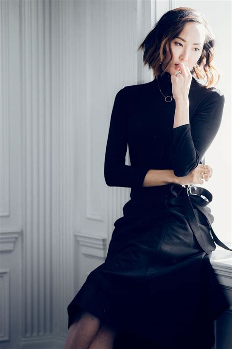 Black Tunik Cf 8 black turtleneck skirt the chriselle factor fashion inspiration