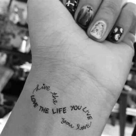 tattoo infinity love life wrist tattoo love life infinity airbrush tattoos