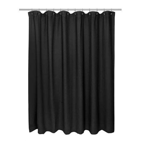 black waffle shower curtain carnation waffle weave cotton shower curtain black view all