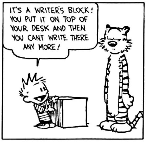 Or Writers Writer S Block Calvin Hobbes The