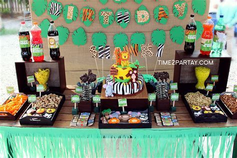 Jungle Birthday Party Ideas   Photo 4 of 45   Catch My Party