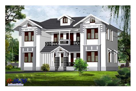 Exterior Home Decoration by Trendy 4 Bedroom Kerala House Design 3080 Sq Ft Model