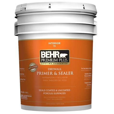 behr premium plus 5 gal interior drywall primer and sealer 07305 the home depot