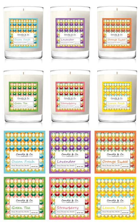 handmade soy candles label template gt gt 24 pretty soy