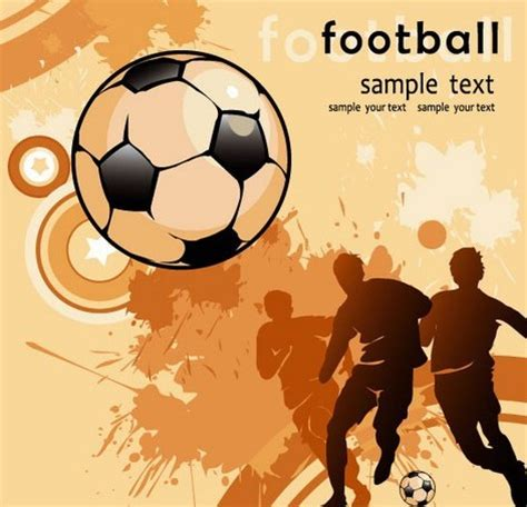 Free Templates For Football Posters | free vector vintage splash football poster template titanui