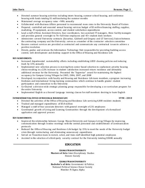 resume sle director of operations