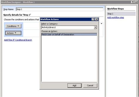 sharepoint designer 2007 workflow sharepoint workflow custom activity for active directory