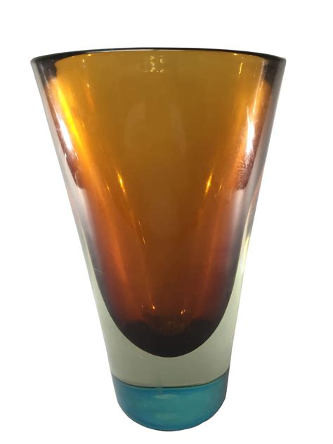 salviati sommerso italian design murano glass vase modernism
