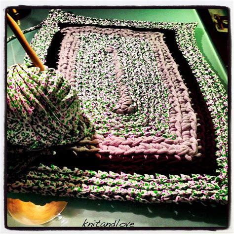 tutorial de como hacer alfombra de trapillo cuadrada muy facil trapilho pinterest tricot