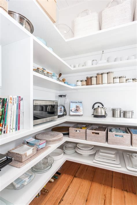 pantry with wraparound shelves cottage kitchen