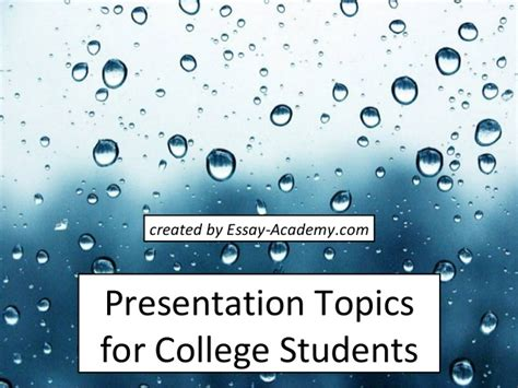 Mba Seminar Topics Ppt by Presentation Topics For College Students