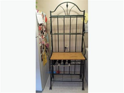 Wrought Iron Bakers Rack With Wine Rack Wrought Iron Bakers Rack North Regina Regina