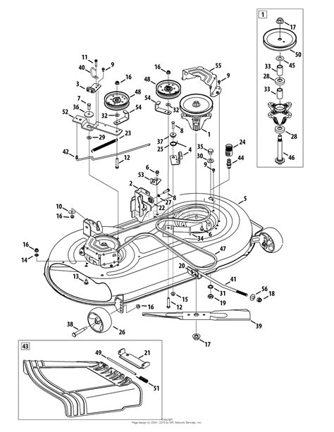 mtd mower deck diagram mtd 13w2771s031 lt4200 2012 parts diagram for mower