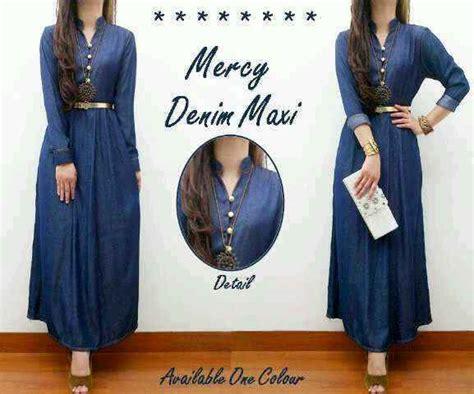 Gamis Polos Wanita Maxi Longdres Ori Shofiya baju maxi denim mercy g232 maxi dress soft murah