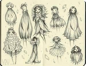 Moleskine study flower fairies by mokinzi on deviantart