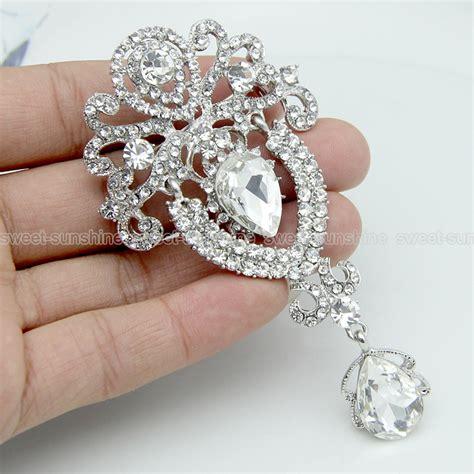 large flower bridal brooch rhinestone