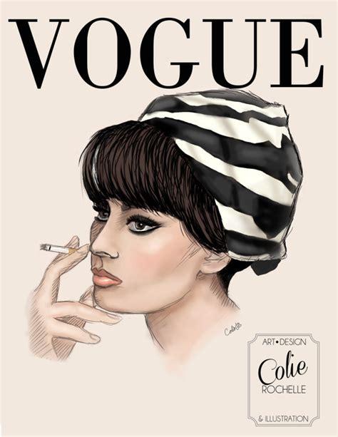 fashion illustration vogue covers items similar to loren vogue cover fashion