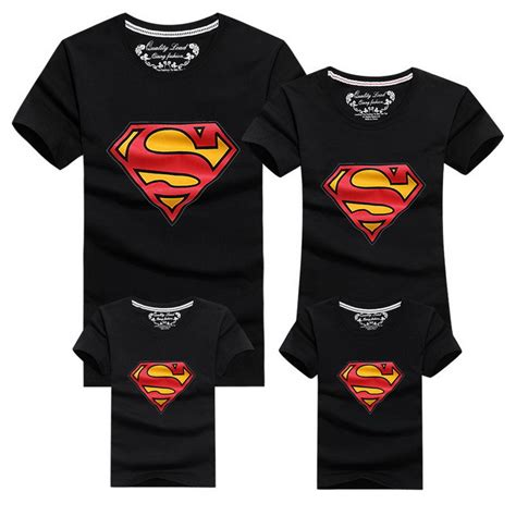 Matching Shirts In Stores Aliexpress Buy 2016 New Family Look Superman T