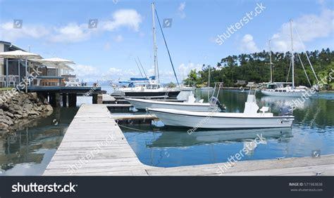Copra Shed Marina by Savusavu Fiji Jan 19 2017yachts Mooring Stock Photo 571983838