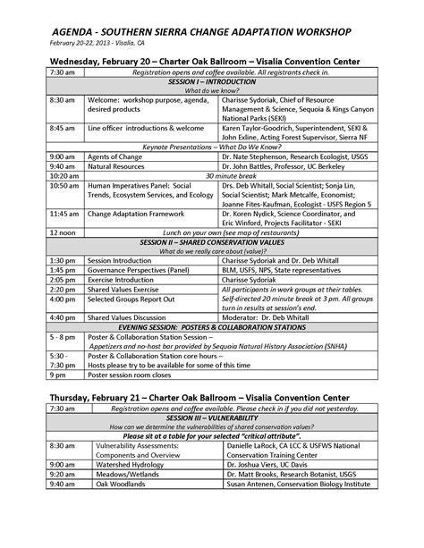 workshop agenda   exercises