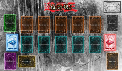 yugioh mat card zone template somebody posted my deckbox playmat combo from r magictcg