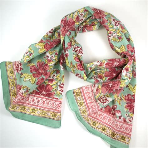 block printed scarf by anokhi sorbet jj caprices