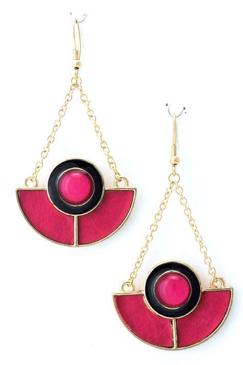 half circle dangle earrings
