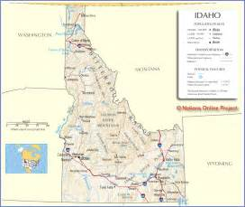 State Of Idaho Map by Idaho Map Free Large Images