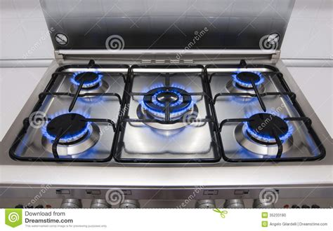 kitchen gas kitchen gas flames stock photo image 35233180