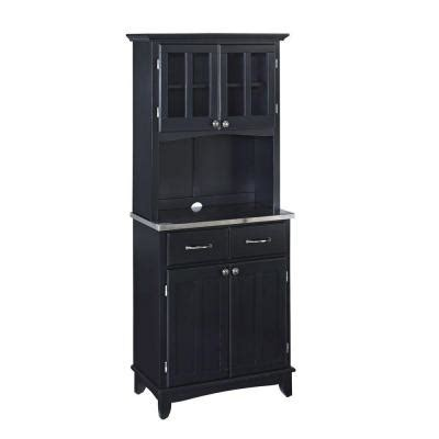 Home Depot Buffet Ls by Home Styles Black Buffet With Stainless Top And Hutch 5001