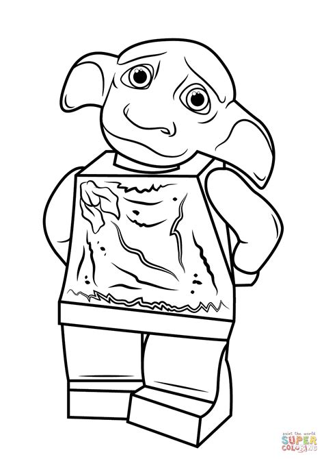 Lego Harry Potter Dobby Coloring Page Free Printable