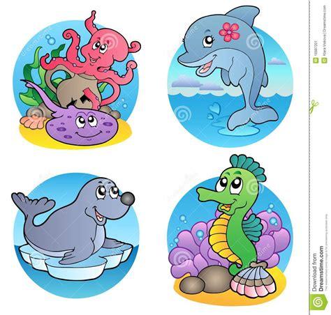 imagenes de animales varios varios animales y pescados 1 del agua ilustraci 243 n del