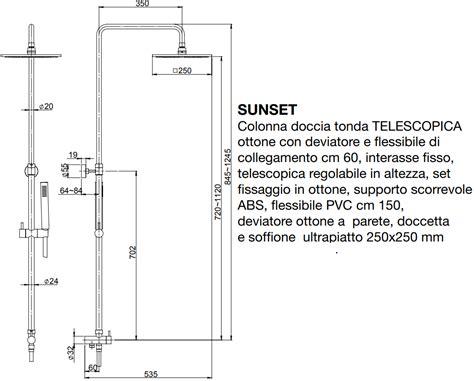 Altezza Miscelatore Doccia by Altezza Soffione Doccia Colonna Doccia Bronzo Telescopica