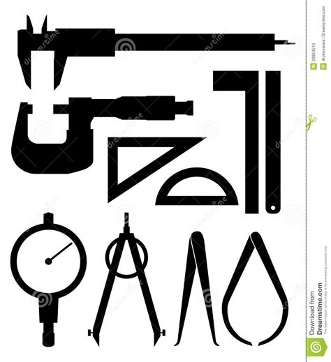 drawing tool with measurements measuring tools silhouette stock photos image 29864513