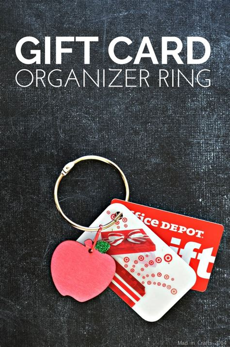 Gift Card Organizer - gift card organizer ring mad in crafts