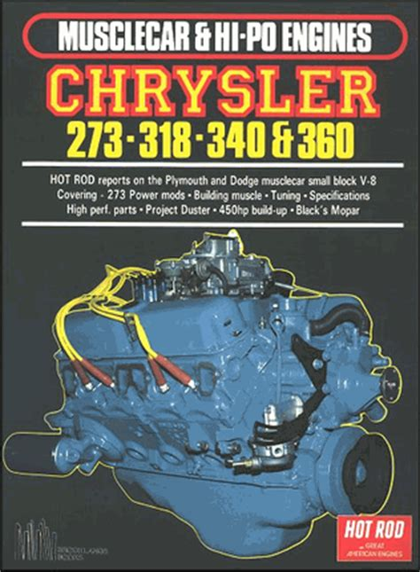 Chrysler 273, 318, 340, 360 V 8 Engines by Hot Rod Magazine