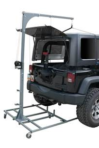 Jeep Wrangler Hardtop Lift Jeep Hardtop Storage Hoist Storage Decorations