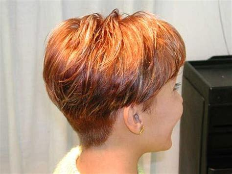 rear views short crops wedge hairstyles pictures back view short hairstyle 2013
