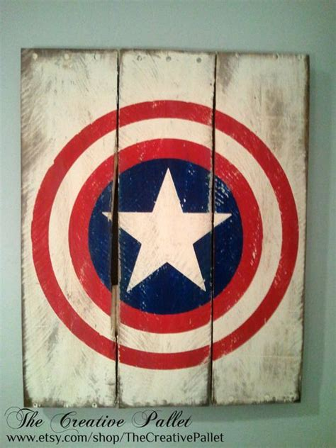 Captain America Vintage 14 captain america vintage wood pallet sign by
