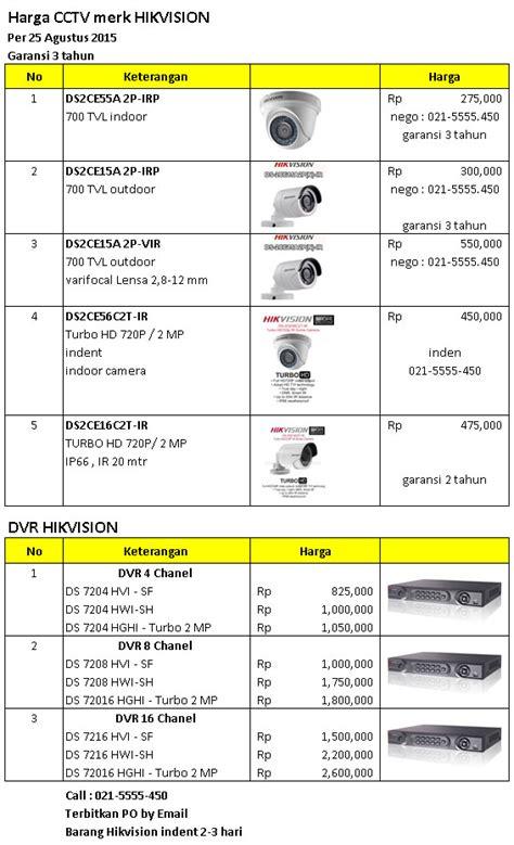 Harga Merk Pers harga dvr hikvision taiwan paket cctv
