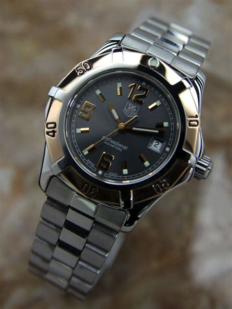 authentic tag heuer 2000 exclusive solid 18k gold bezel immaculate ebay