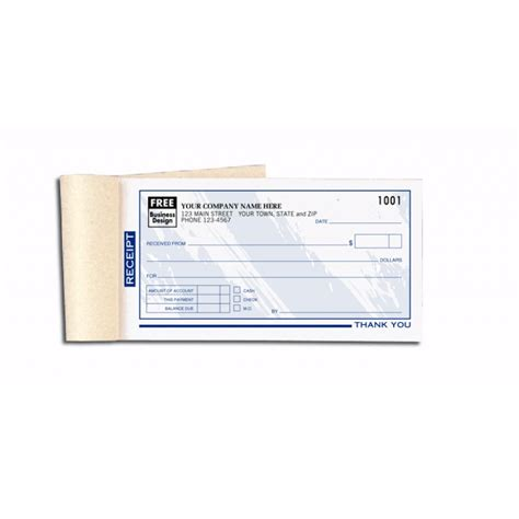 custom receipt template custom receipt books color collection 693t at print ez