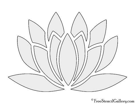lotus flower stencils www imgkid com the image kid has it
